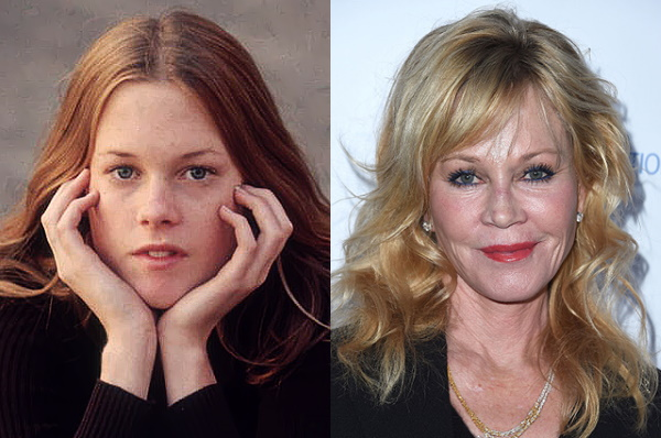 Melanie Griffith. Fotók ifjúkorában és most, plasztikai műtétek előtt és után, életrajz